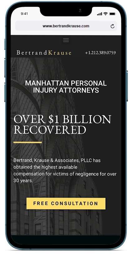 Mobile-optimized law firm website
